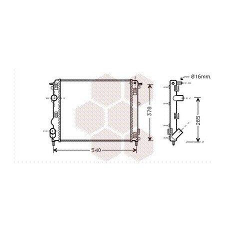 radiateur moteur pour renault kangoo version 1 2 8v 1 5 dci rapid kw60 de 1999 2003 pour. Black Bedroom Furniture Sets. Home Design Ideas