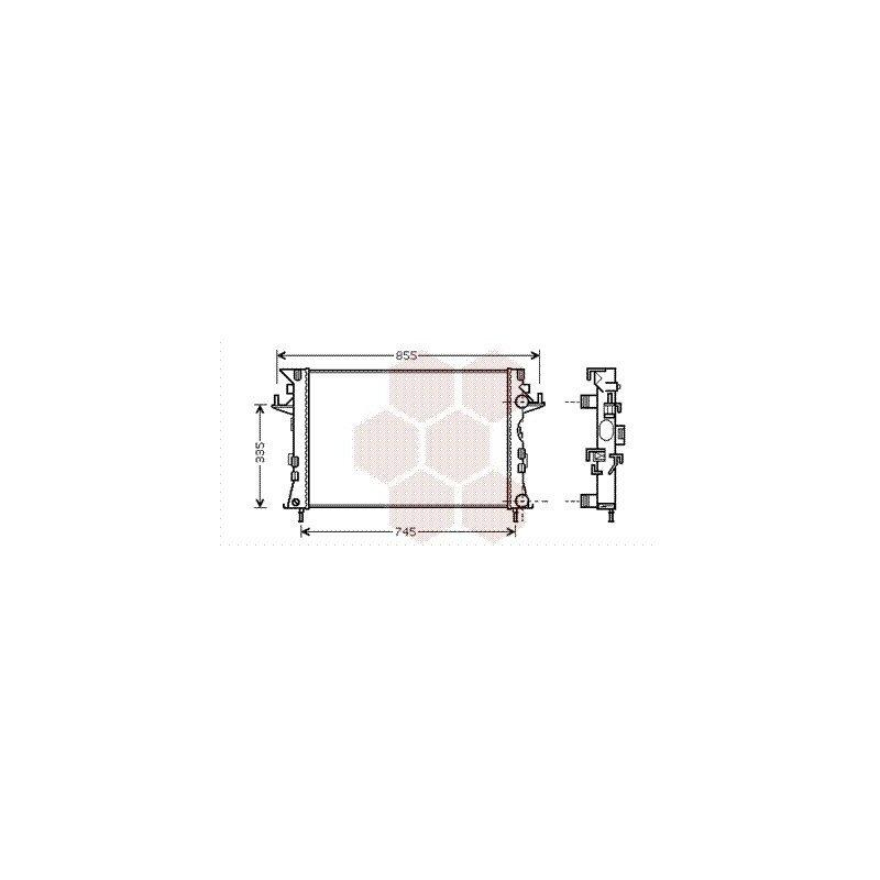 radiateur moteur pour renault laguna version 1 9 dci 2 0 dci 2 2 dci de 2005 2007 pour. Black Bedroom Furniture Sets. Home Design Ideas