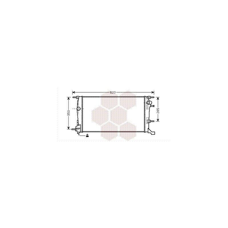 radiateur moteur pour renault megane version 2 0 1 9 dci 2 0 dci de 2009 2015 pour. Black Bedroom Furniture Sets. Home Design Ideas