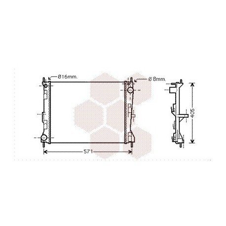 radiateur moteur pour renault modus version 1 2 1 5 dci de 2004 2008 pour renault modus. Black Bedroom Furniture Sets. Home Design Ideas
