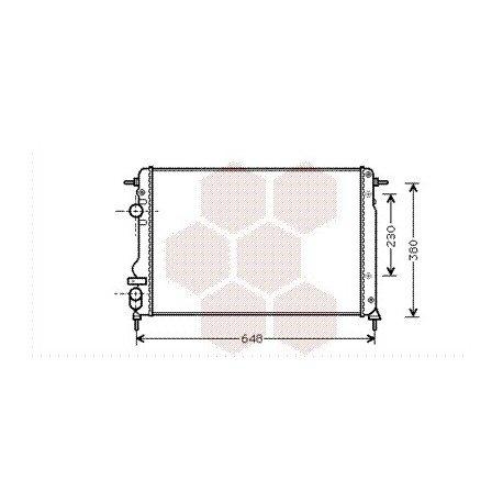 radiateur moteur pour renault sc nic version 1 9 dci de 2001 2003 pour renault sc nic. Black Bedroom Furniture Sets. Home Design Ideas