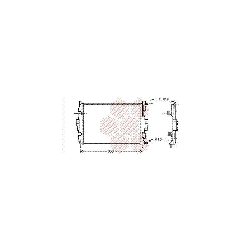 radiateur moteur pour renault sc nic version 2 0 16v 1 5 dci kw60 1 9 dci moteur. Black Bedroom Furniture Sets. Home Design Ideas