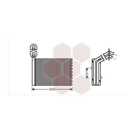 radiateur chauffage pour seat alhambra version volant a gauche de 1996 2000 pour seat alhambra. Black Bedroom Furniture Sets. Home Design Ideas