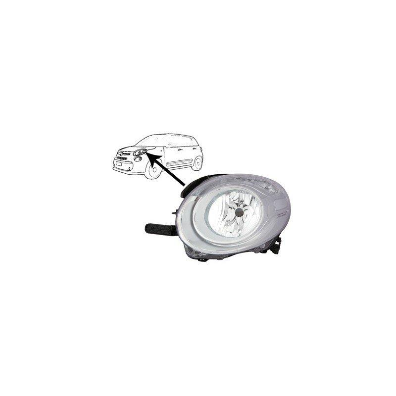 phare gauche avec clignotant pour fiat 500 l pieces detachees pour fiat 500. Black Bedroom Furniture Sets. Home Design Ideas