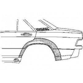 Arc d'aile arriere pour Mercedes classe C W201 de 1982 a 1993