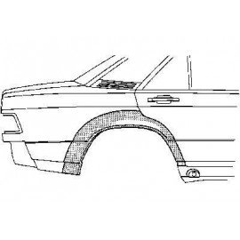 Arc d'aile arriere pour Mercedesw classe C W201 de 1982 a 1993