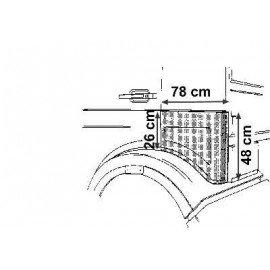 Cornière gauche pour Mercedes NG 381/388