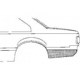 Coin bas d'aile arrière gauche pour Opel Rekord E