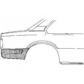 Coin bas d'aile arrière droit pour Opel Ascona C 2/4 portes