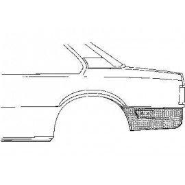 Coin bas d'aile arrière gauche pour Opel Ascona C 2/4 portes