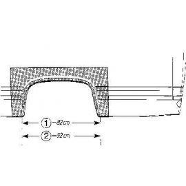 Arc d'aile arrière pour Mercedes 406-608 jusqu'à 1986