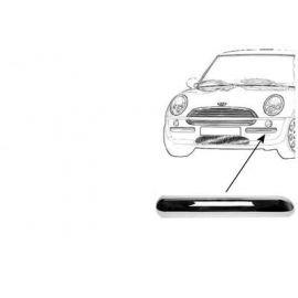Moulure pare-choc gauche, chromée, pour Mini (BMW) de juillet 2004 à 2006 sauf version Cooper S et Cabriolet