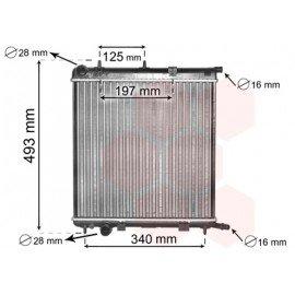 Radiateur moteur pour Citroen C2 version 1.1 / 1.4 marque DEUS