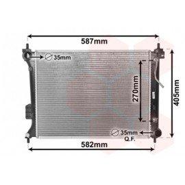 Radiateur moteur pour Hyundai I20 de 2008 à juin 2012 version 1.4i / 1.6i