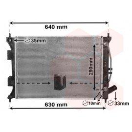 Radiateur moteur pour Kia Soul de oct 2011 à 2014 version 1.6i CVVT boite automatique