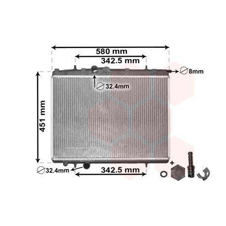 radiateur moteur pour peugeot 206 pi ces d tach es de carrosserie peugeot. Black Bedroom Furniture Sets. Home Design Ideas