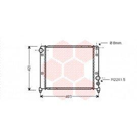 Radiateur moteur pour Alfa-Roméo 75 version 1.6 / 1.8 / 2.0
