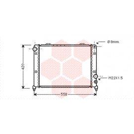 Radiateur moteur pour Alfa-Roméo 75 version 2.0 Twin Spark / 2.5