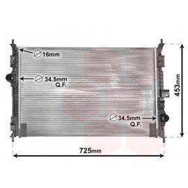 Radiateur moteur pour Citroen C4 Picasso depuis 2013 version 1.6 VTi / 1.6 THP / 1.6 e-HDi marque Valeo
