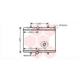 Radiateur moteur pour Citroen C8 depuis 2006 version 2.0 HDi marque Behr