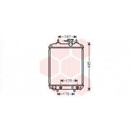 Radiateur moteur pour Daihatsu Sirion de 2005 à 2008 version 1.0i / 1.3i boite automatique