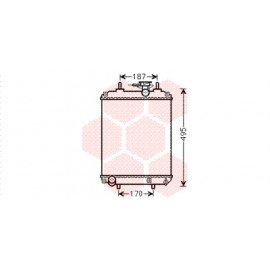 Radiateur moteur pour Daihatsu Sirion de 2005 à 2008 version 1.0i / 1.3i