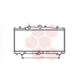 Radiateur moteur pour Fiat Barchetta version 1.8 essence