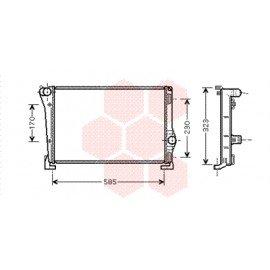 Radiateur moteur pour Fiat Idea version 1.3 SDi