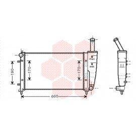 Radiateur moteur pour Fiat Idea version 1.2 16V