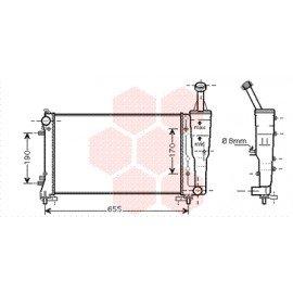Radiateur moteur pour Fiat Idea version 1.4 16V