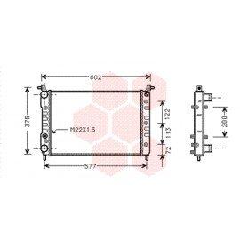 Radiateur moteur pour Fiat Palio version 1.2 / 1.4