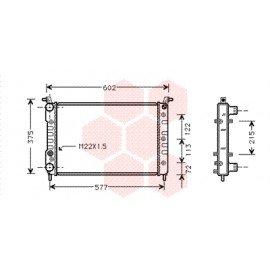 Radiateur moteur pour Fiat Palio version 1.0 / 1.2 / 1.4 / 1.6 (vérifier dimensions)