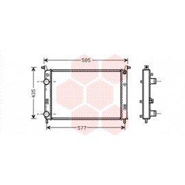 Radiateur moteur pour Fiat Palio version 1.9 D / 1.9 TD