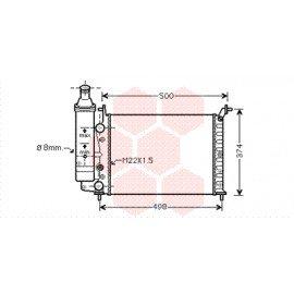 Radiateur moteur pour Fiat Palio version 1.0 / 1.1 véhicule sans clim