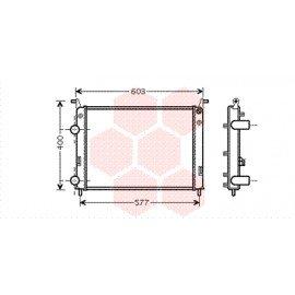 Radiateur moteur pour Fiat Palio version 1.2 (vérifier dimensions)