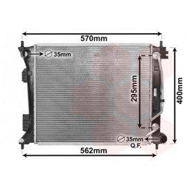 Radiateur moteur pour Hyundai Veloster depuis oct 2012 version 1.6 T-GDi boite automatique