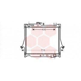 Radiateur moteur pour Isuzu D-Max de 2002 à 2012 version 2.5 DiTD