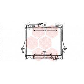 Radiateur moteur pour Isuzu D-Max de 2002 à 2012 version 2.4i / 3.5i
