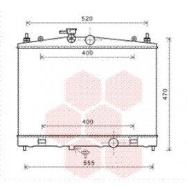 Radiateur moteur pour Nissan Cube d'après déc 2009 version 1.6i