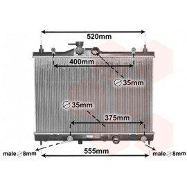 Radiateur moteur pour Nissan Cube d'après déc 2009 version 1.6i boite automatique