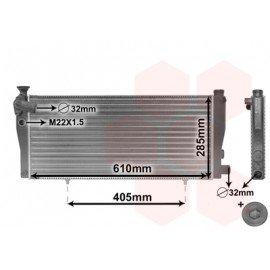 Radiateur moteur pour Peugeot 205 version 1.3 Rallye 16V / 1.6i / 1.9i sans clim