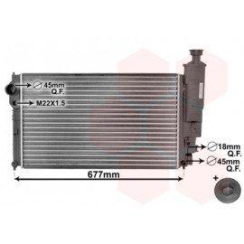 Radiateur moteur pour Peugeot 405 d'apres juil 1992 version Turbo-diesel sans clim