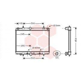 Radiateur moteur pour Peugeot 607 version 2.2 boite automatique