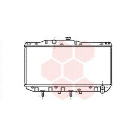 Radiateur moteur pour Toyota Camry de 1987 à 1992 version 1.8 / 2.0 boite automatique