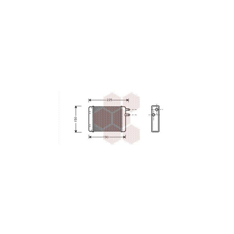 radiateur chauffage pour mini austin pi ces d tach es de carrosserie mini. Black Bedroom Furniture Sets. Home Design Ideas