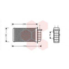 Radiateur de chauffage pour Fiat Marea de 1999 à 2002 version essence