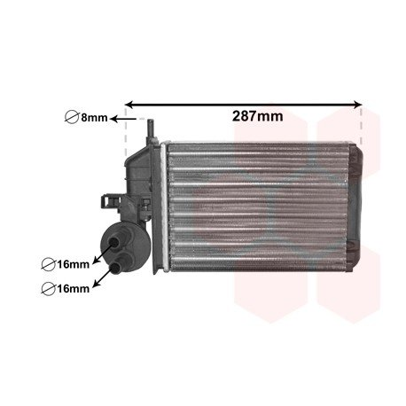 radiateur chauffage pour fiat seicento pi ces d tach es de carrosserie fiat. Black Bedroom Furniture Sets. Home Design Ideas