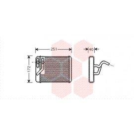 Radiateur de chauffage pour Hyundai Trajet de 2001 à 2008