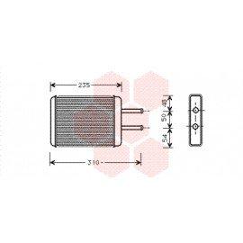 Radiateur de chauffage pour Kia Joice de 1999 à 2003 version 2.0i