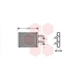 Radiateur de chauffage pour Kia Pregio de oct 1997 à 2004